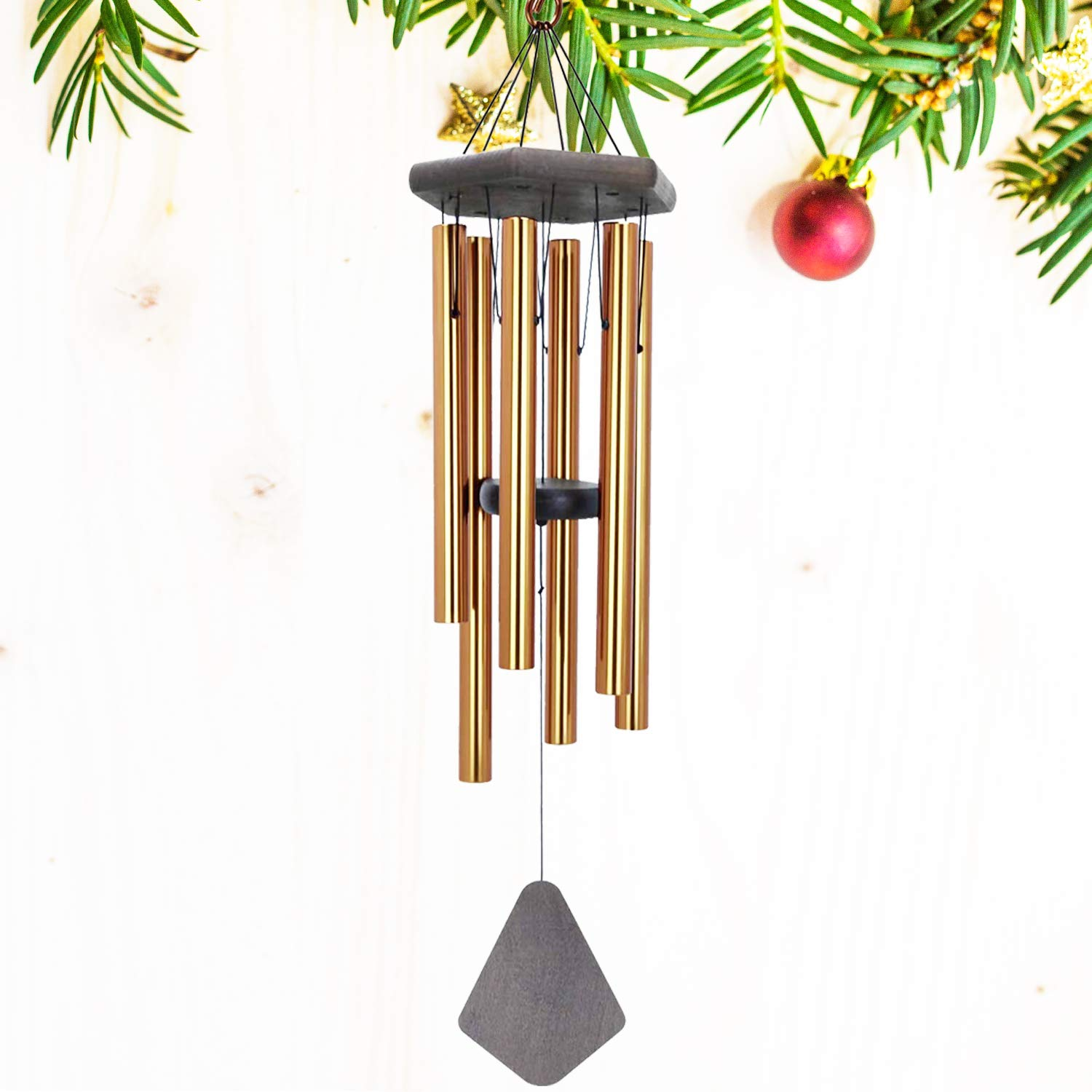 Amazon Com Astarin Wind Chimes Outdoor Large Deep Tone Memorial Personalized Wind Chimes With 6 Long Metal Tubes Sympathy Wind Chime With Sound Perfect For Garden Patio And Yard 30 Inches Bronze