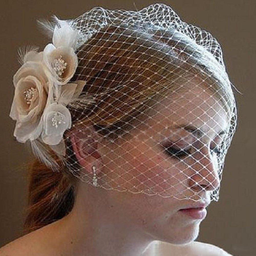 Kercisbeauty Wedding Bridal Flower Large-scale sale Face Layer San Diego Mall Single Birdcage La