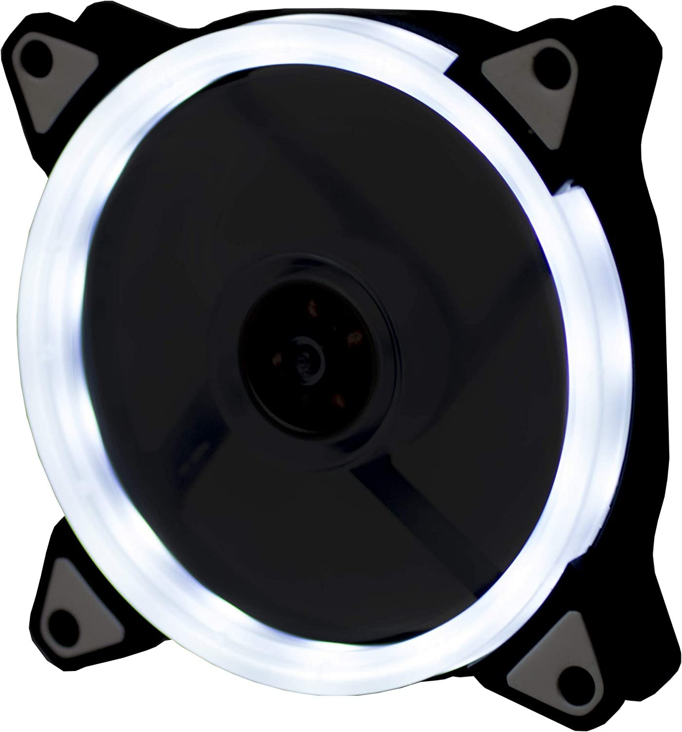 Lilware BoostPro 120mm Air Flow Balance Single Color LED Quiet High Performance Case Fan White