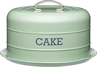 Kitchen Craft Living Nostalgia Vintage Style Airtight Cake Storage Tin Cake Dome English Sage Green - 28.5cm x 18cm 11