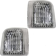 Driver and Passenger Signal Corner Marker Lights Lamps Replacement for Chevrolet GMC Van 16524075 16524076