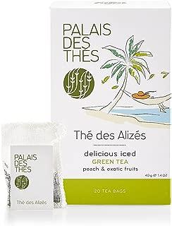 Palais des Ths Th des Alizes Green Tea with Peach and Exotic Fruits, 20 Tea Bags (40g/1.4oz)