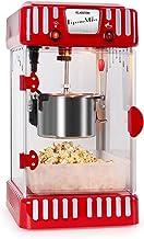 KLARSTEIN Volcano - Machine à pop-corn, Design rétro des Fifties, Bol amovible en acier, Bras mélangeur, Eclairage intérie...