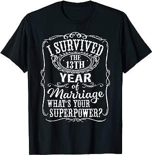 Anniversary Gift 13th - 13 years Wedding Marriage T-Shirt