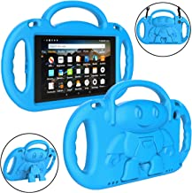 LTROP All-New Fire HD 8 Tablet Case, Fire 8 2018 Case for Kids - Light Weight Shock Proof Handle Friendly Stand Child-Proof Case for Fire 8