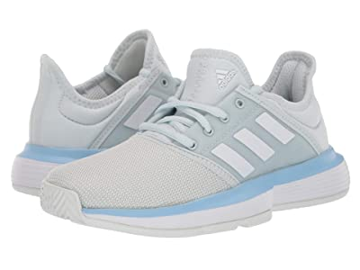 adidas Kids SoleCourt X Tennis (Little Kid/Big Kid) (Blue Tint/White/Blue Glow) Kids Shoes