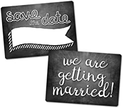 Plastic Photography / Engagement Prop Sign - Save the Date