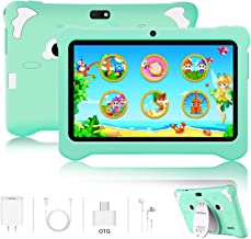 $69 » Kids Tablet, Android 9.0 Tablets 7 inch HD IPS Eye Protaction Display, 3GB RAM 32GB ROM, Quad Core Processor, Dual Camera, WiFi, Parental Control, Kid-Proof, Pre-Installed Educational APP (Green)
