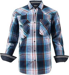 Men's Western Casual Shirt Two Pocket Long Sleeve Snap Shirt