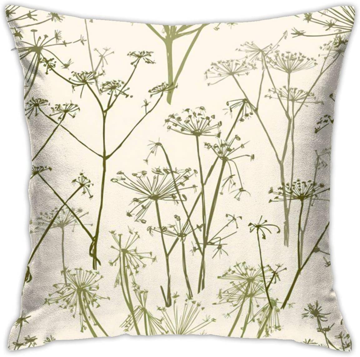 Anya Topshop 80s 90s Decorative Pillowcases Fall Home Decor Cushion Cover Vintage Umbrella Flowers Simpleism Natural Plant Drawing Throw Pillow Cover Comfort For Living Room Office 18x18 Inch Home Kitchen