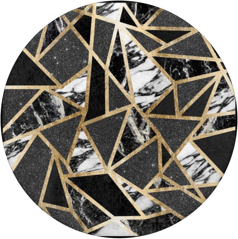 Geometrique-Marbre Blanc-Or-Noir PopSockets Support et Grip pour Smartphones et Tablettes