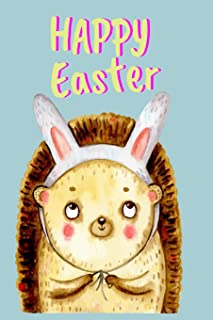 Cute Easter Hedgehog with Bunny Ears Is A Cracking Easter Gift for Creative Journaling Hedgehog With Cute Bunny Rabbit Ears Lined Journal, Composition Book, A5 Exercise Notebook