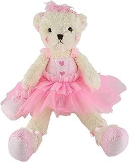 Wewill Ballerina Teddy Bear Stuffed Animals Cute Soft Toy Plush Creative Doll Birthday Christmas Festivals Gift, 23-Inch,Pink