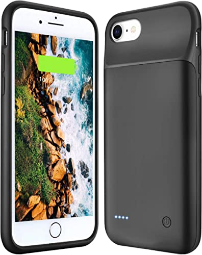 Wixann Battery Case for iPhone 6/6s/7/8/SE 2020 Upgraded 3000mAh Slim Portable Charging Case Rechargeable Extended Ch...