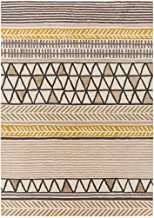 Decovio 12392-BB Ross 96 X 60 inch Brown and Brown Area Rug, Wool