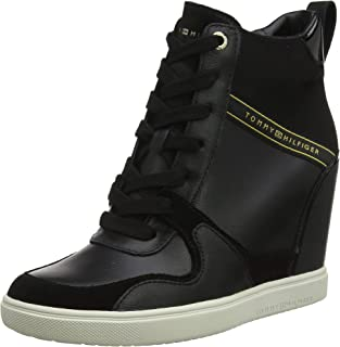 Tommy Hilfiger Dressy Sneaker Wedge Women's Sneakers, Black 900