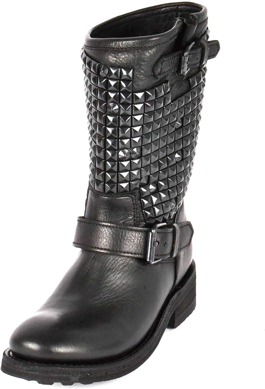 Footwear Footwear Trash Verzierte Lederstiefel - Frau 39 Schwarz  auf Lager