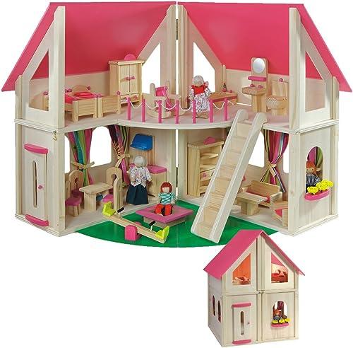 Howa klappbares Puppenhaus, incl. M l und Puppen 7013