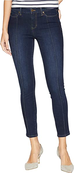 Abby Ankle Pintuck with Shaping and Slimming Four-Way Stretch Denim in Corvus Dark