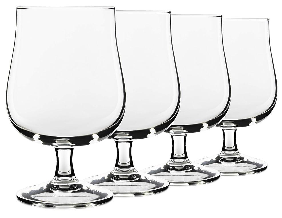 欲望好意スーツ17オンス 米国製 ベルギークラフトビールグラス Serami チューリップスタイル ステムグラス 4個セット