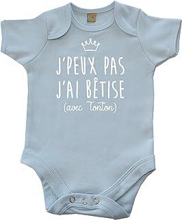 4ecef5eabf69a DSTNY Body bébé J peux Pas J Ai bêtise avec Tonton