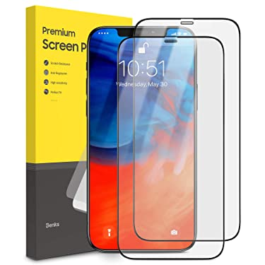 BENKS [2 Pack] Compatible With iPhone 12 Pro Max Screen Protector Matte, Anti-Glare Anti-Fingerprint Tempered Glass Clear Film Case Friendly Full Coverage Protective Film for iPhone 2020, 6.7 Inch