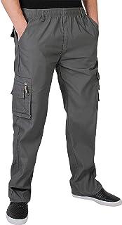 Pantalón Hombre Casual Cargo Cómodos Bolsillos Laterales Algodón