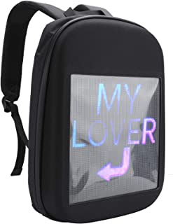 LED Screen Backpack, Drop-Resistant Durable Led Screen LED Computer Backpack, for Laptops Advertise Outdoor Tablets