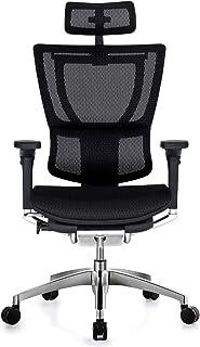 メーカー組立完成品 エルゴヒューマン フィット オフィスチェア ブラック エラストメリックメッシュ ブラックフレーム IOO-AB-3DHAM-KM-11