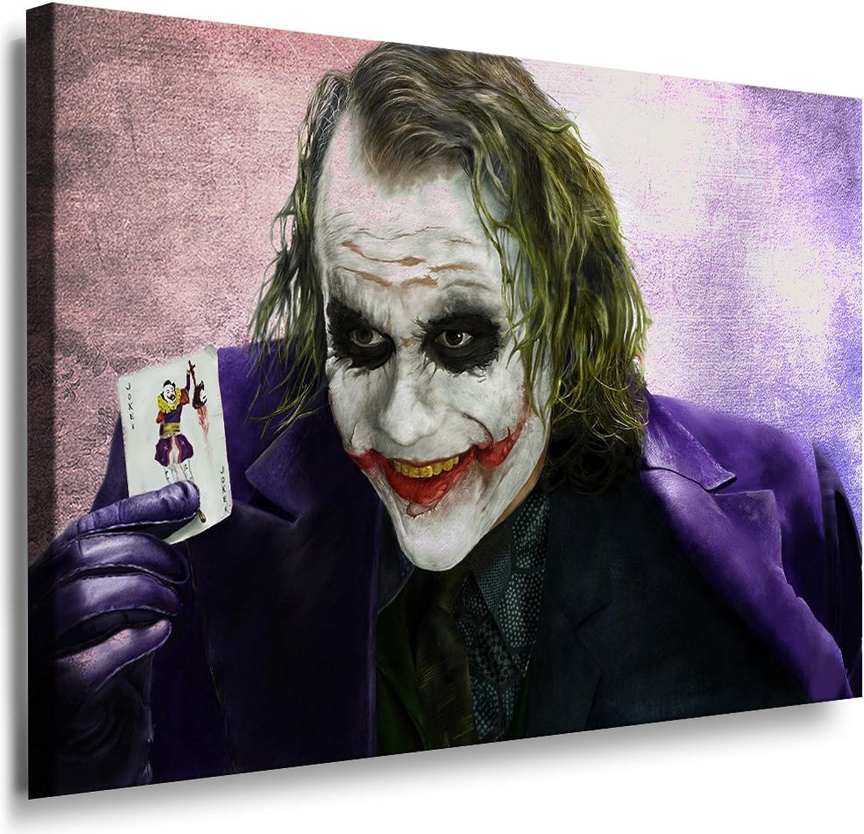 Boikal   Leinwand Bild Joker - - - Film Batman Heath Ledger Leinwanddruck, Kunstdruck fm31 Wandbild 100 x 70 cm B016HDJ3GA 3d60a2