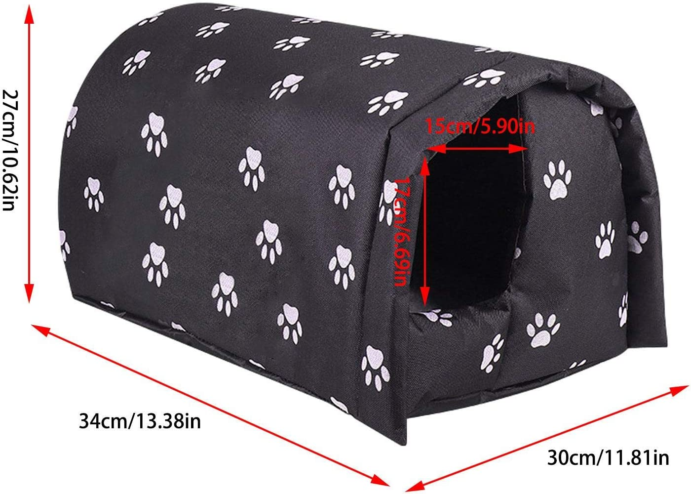 Jilijia Pets House,Outdoor Cold and Waterproof Pet Nest,Stray Cats Stray Dogs Warm Nest,Pet Nest for Cat or Small Dog