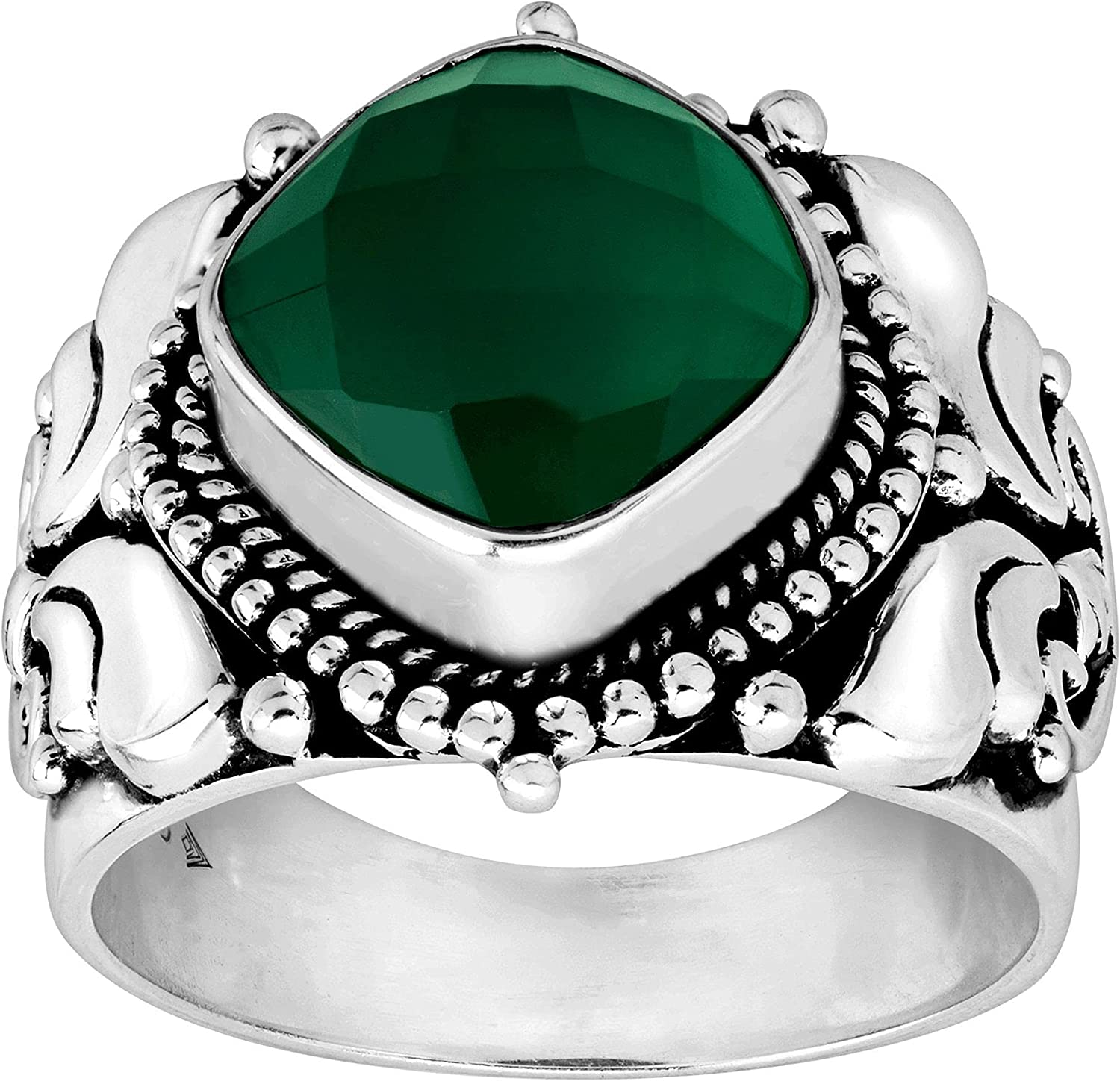 Silpada Today's only 'Irish You Were Here' Natural Ring in Onyx Green Sterlin Popularity