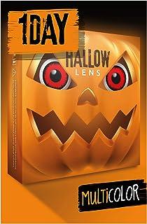 HALLOWLENS Gekleurde Halloween Contactlenzen, Zachte Motief lens voor chique Jurk Kostuum, 2 stuks, 1 paar, Eenmalig gebru...