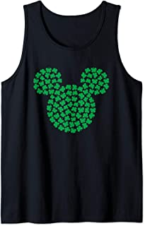 Mickey Mouse Green Clovers St. Patrick's Day Tank Top