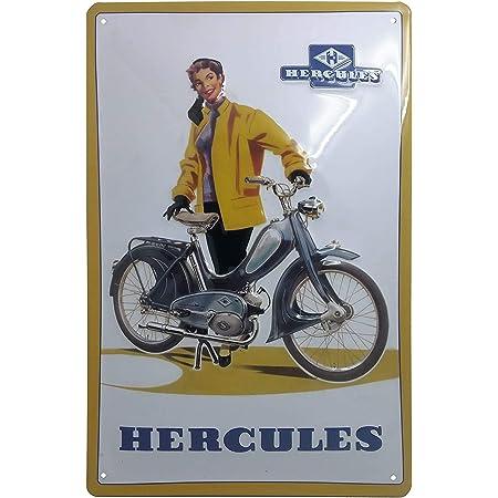 Hercules Mofa Blechschild Hochwertig Gepräg Retro Werbeschild Blechschild Türschild Wandschild 30 X 20 Cm Küche Haushalt