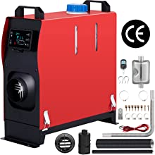 Happybuy 5KW Diesel Air Heater All in One 12V Diesel Parking Heater Silencer 5000W Diesel Heater Remote Control with LCD Switch for RV Motorhome Bus and Trailer