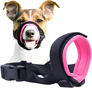 Gentle Muzzle Guard for Dogs - Prevents Biting Unwanted Chewing Safely Secure Comfort Fit - Soft Neoprene Padding – No Mor...