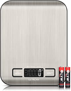 Ultrean Digital Food Scale, High Precision Kitchen Scale, Measures in Grams and Ounces for Cooking and Baking, 5 Units wit...