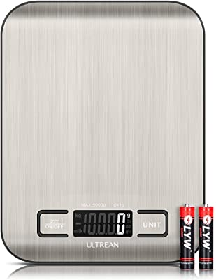 Ultrean Food Scale, Digital Kitchen Scale Grams and Ounces for Weight Loss, Cooking and Baking, High Precision, and LCD Display