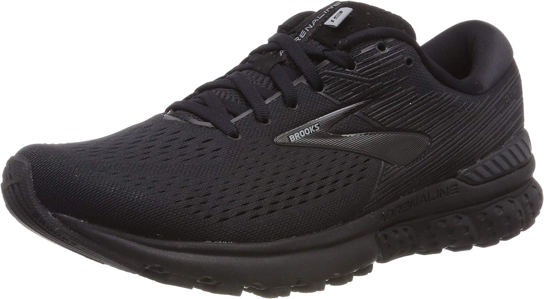 Brooks Men's Adrenaline GTS 19 D Width Running shoes (BRK-110294 1D 42477H0 14 (071) Black Ebony)