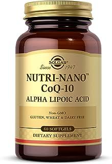 Solgar Nutri-Nano Coq-10 Alpha Lipoic Acid 60 Softgels