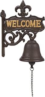 Juvale Cast Iron Bell – Welcome Entry Door Bell, Antique Doorbell Decoration, Front..
