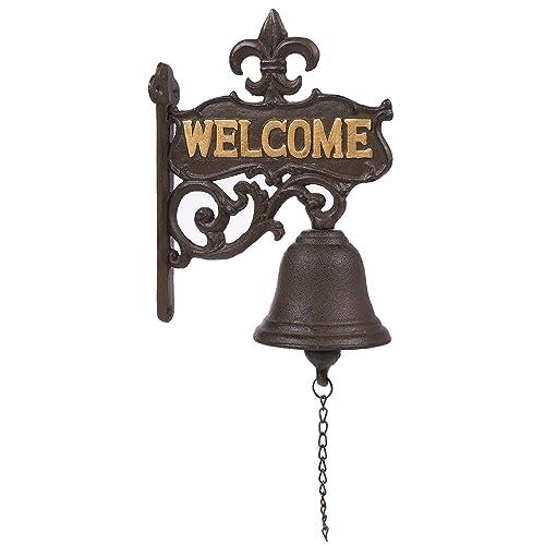 Ordinaire Juvale Cast Iron Bell   Welcome Entry Door Bell, Antique Doorbell Decoration,  Front Door