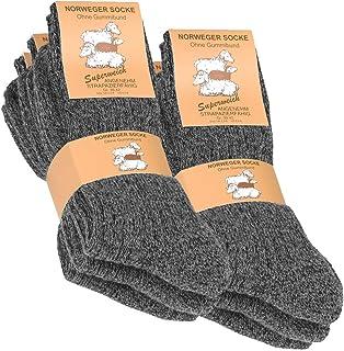 93b3cd9054821 VCA Lot de 6 paires de chaussettes norvégiennes - laine épaisse - anthracite