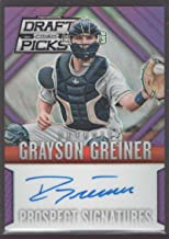 Grayson Greiner 2014 Panini Prizm Perennial Draft Picks Prospect Signatures Purple Prizms #16 Mint A