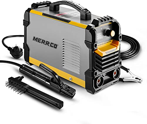 popular MERRCO sale 2021 110/220V MMA Welder, 160A ARC Welder Machine IGBT Digital Display LCD Hot Start Welder with Electrode Holder,Work Clamp, Input Power Adapter Cable and Brush sale