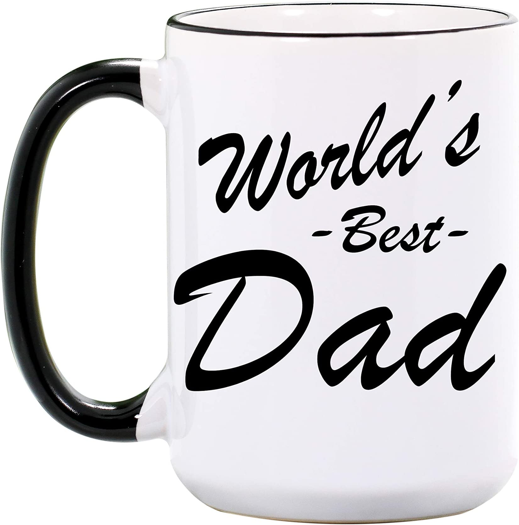 Amazon Com World S Best Dad Mug Large Ceramic 15 Oz Or 11 Oz Ceramic Cup Fathers Day Mugs Dad Gifts For Dads Worlds Best Dad Coffee Cups Dishwasher