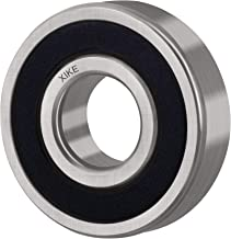 XiKe 2 Pcs 6000-2RS Double Rubber Seal Bearings 10x26x8mm, Pre-Lubricated and Stable Performance and Cost Effective, Deep Groove Ball Bearings.