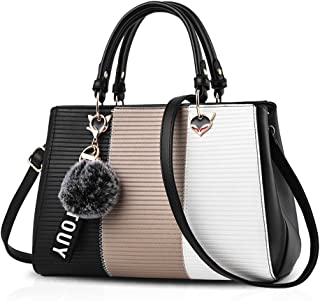 Ladies Leather Bow Handbag Designer Shoulder Box Grab Bag Tote Box Handle UK