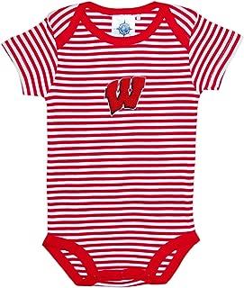 Creative Knitwear University of Wisconsin Badgers Striped Baby Bodysuit